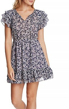 1 STATE Flutter Sleeve Wildflower Dress