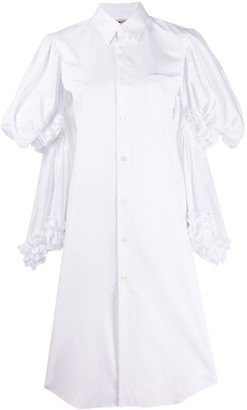 Comme des Garcons layered-sleeve shirt dress