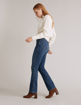 Marks and Spencer Cotton Luxury High Waisted Flared Jeans