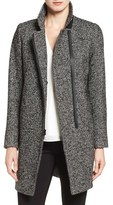 Trina Turk 'Adela' Asymmetrical Zip Notch Collar Coat
