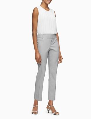 Calvin Klein Modern Ankle Fit Stretch Blue White Stripe Pants