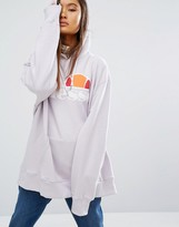 Ellesse Oversized Pull Over Hoodie With Front Logo