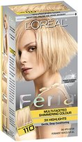 L'Oreal Feria Hair Color, 110 Very Light Beige Blonde (Packaging May Vary)