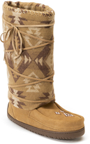 Manitobah Mukluks Oak Lace-Up Suede-Wool Moccasin Boot