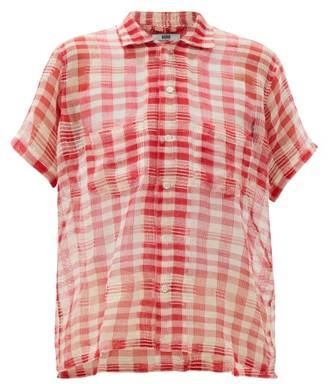 Bode Spotlight Gingham Cotton Shirt - Red White