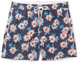 Isaia Slim-Fit Mid-Length Floral-Print Swim Shorts