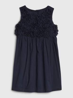 Gap Toddler Floral Applique Sleeveless Dress