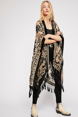 Free People Nightbird Burnout Kimono