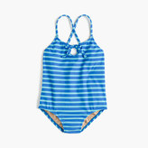 J.Crew Girls' keyhole one-piece swimsuit in sailor stripes