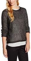 Freeman T. Porter Freeman T.Porter Women's Lillyrose Foil Fisherman's Rib Plain Long Sleeve Jumper
