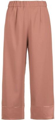 Olympiah Juanita panelled pantacourt trousers