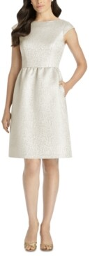 Dessy Collection Boat-Neck A-Line Dress