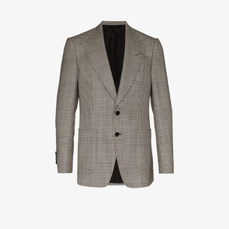 Tom Ford houndstooth single-breasted blazer