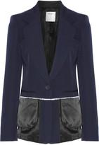 DKNY Satin-trimmed wool-twill blazer