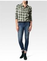 Paige Mya Shirt - Phantom / Sea Grass Jacquard Plaid
