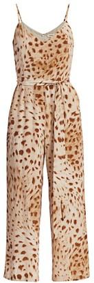 L'Agence Jaelyn Cheetah Silk Jumpsuit