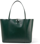 Kara Tie Leather Tote - Emerald