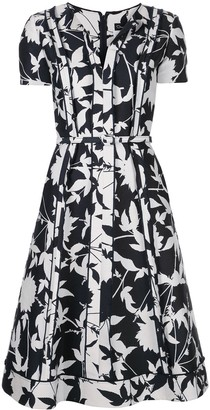 Oscar de la Renta pleated floral dress