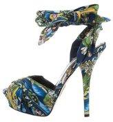 Dolce & Gabbana Lemon Print Platform Sandals w/ Tags