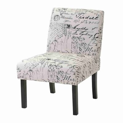"""Thumbnail for your product : One Allium Way Poynor 22.5"""" Wide Polyester Slipper Chair"""
