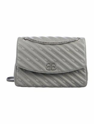 Balenciaga BB Quilted M Shoulder Bag Grey