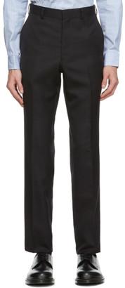 Comme des Garçons Homme Deux Black Herringbone Trousers