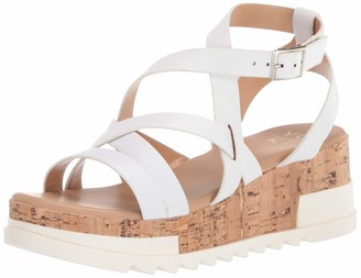 Yoki Flat Form Sandal with Leather Straps