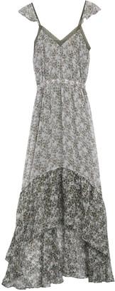 Ramy Brook Schena Floral Silk Blend High/Low Maxi Dress