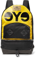 Junya Watanabe + Seil Marschall Leather-trimmed Resin-coated Pvc And Canvas Backpack - Yellow