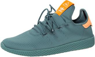 adidas Pharrell Williams x Raw Green Cotton Knit PW Tennis Hu Sneakers Size 46