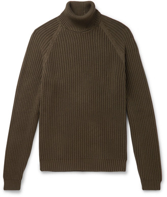HUGO BOSS Ribbed Cotton Rollneck Sweater