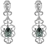 Oscar de la Renta Bold Crystal Filigree C Earrings Earring