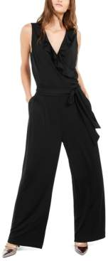 Alfani Petite Ruffled Jumpsuit, Created For Macy's