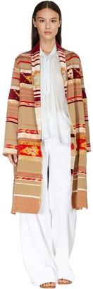 Forte Forte Belted Velvet Blend Jacquard Coat