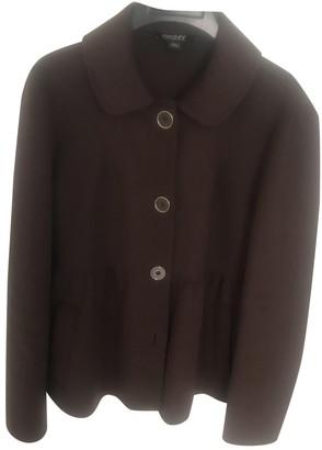 DKNY Brown Wool Coat for Women
