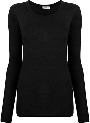 Closed Round Neck Knit Jumper