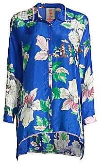 Johnny Was Women's Jaffa Floral-Print Silk Blouse