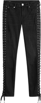 True Religion Skinny Jeans with Lace-Up Sides