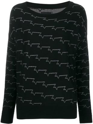 Zadig & Voltaire Zadig&Voltaire metallic pattern jumper