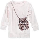 Jessica Simpson Sequin-Owl Purse Sweater, Big Girls (7-16)
