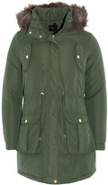 Thumbnail for your product : Brave Soul Ladies Parka Coat - Cicely - Khaki Green - UK 14