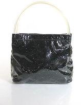 Miu Miu Clear Black Sparkle Small Tote Handbag