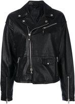 Diesel Black Gold Lavalle biker jacket - women - Leather/Polyester/Viscose - 38