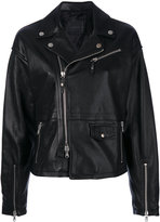 Diesel Black Gold Lavalle biker jacket - women - Leather/Polyester/Viscose - 40