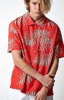 Brixton Lovitz Red Short Sleeve Button Up Camp Shirt