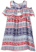 Jessica Simpson Printed Dress With Trim & Tassel (Toddler Girls)