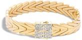 John Hardy 18K Yellow Gold Modern Chain Bracelet with Diamonds
