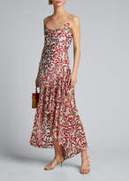 Alice + Olivia Ginger Cowl-Neck Ruffle Dress