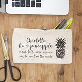 So Close Personalised Pineapple Pencil Case