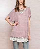 Jane Cocoa Dolman-Sleeve Tunic